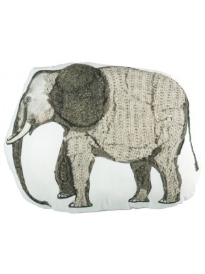 Beddinghouse Kids Elephant cushion Sierkussen - Grijs