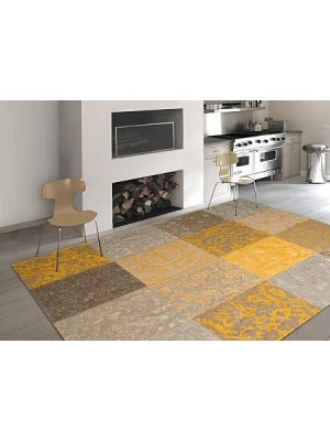 karpet vintage yellow