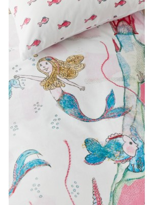 Beddinghouse Kids Mermaids Dekbedovertrek - Roze